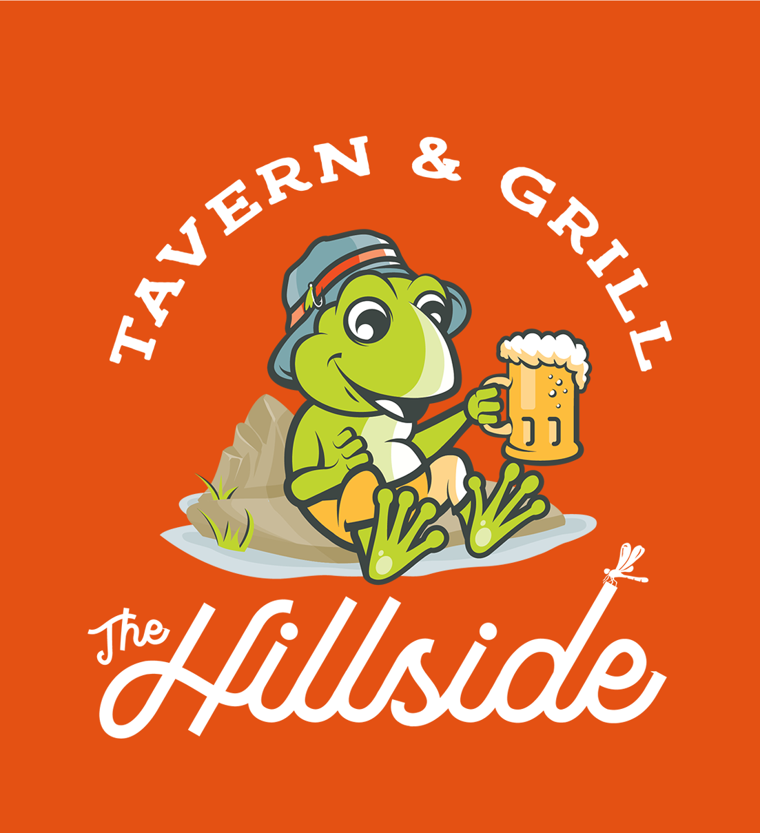 Hillside Frog Logo Orange